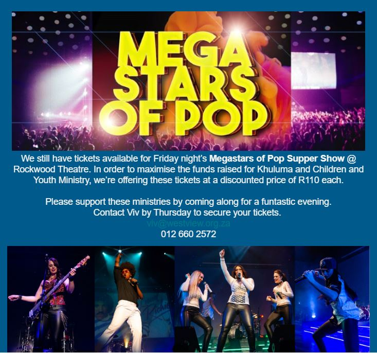 Mega Stars of Pop Supper Show at Rockwood Theatre